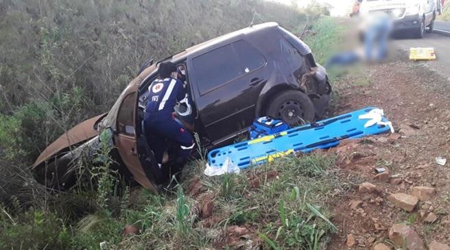 Duas pessoas feridas num acidente em Clevelândia, na PR-280