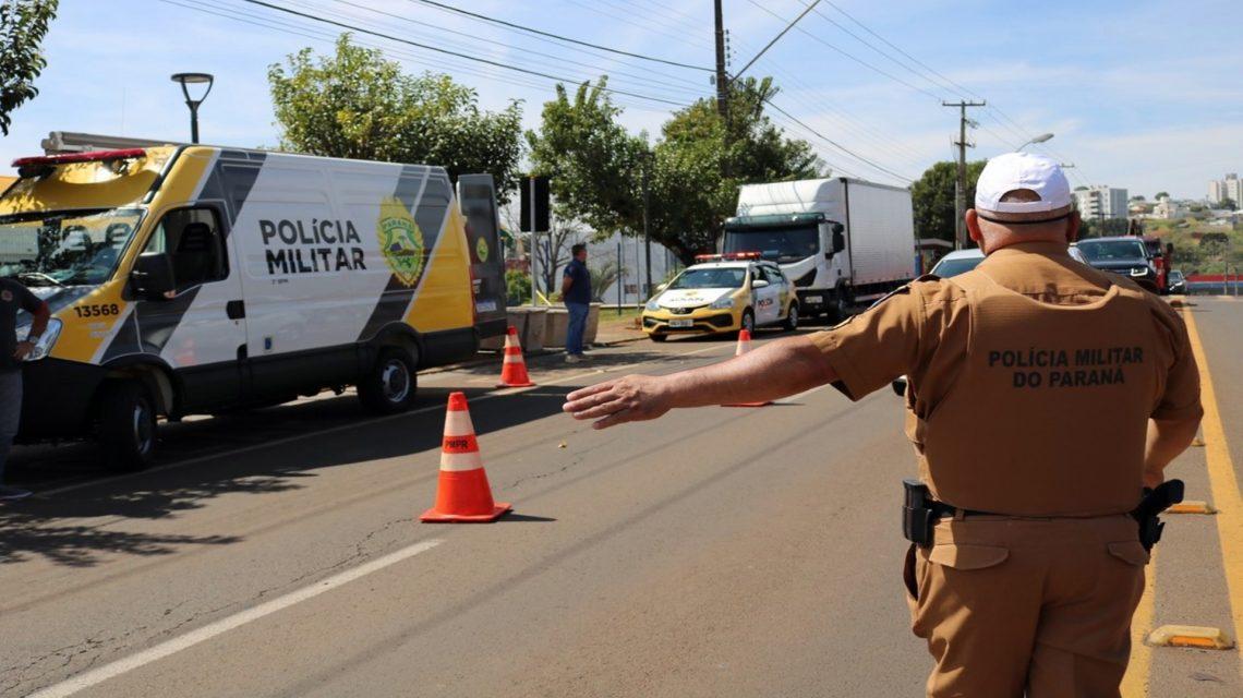 PM realiza blitz educativa sobre a Semana Nacional do Trânsito em Pato Branco