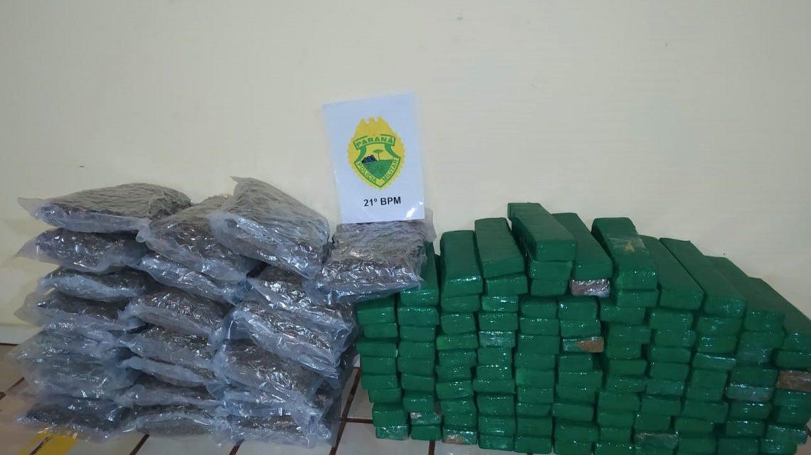 Polícia Militar apreende quase cem quilos de maconha em Nova Prata do Iguaçu