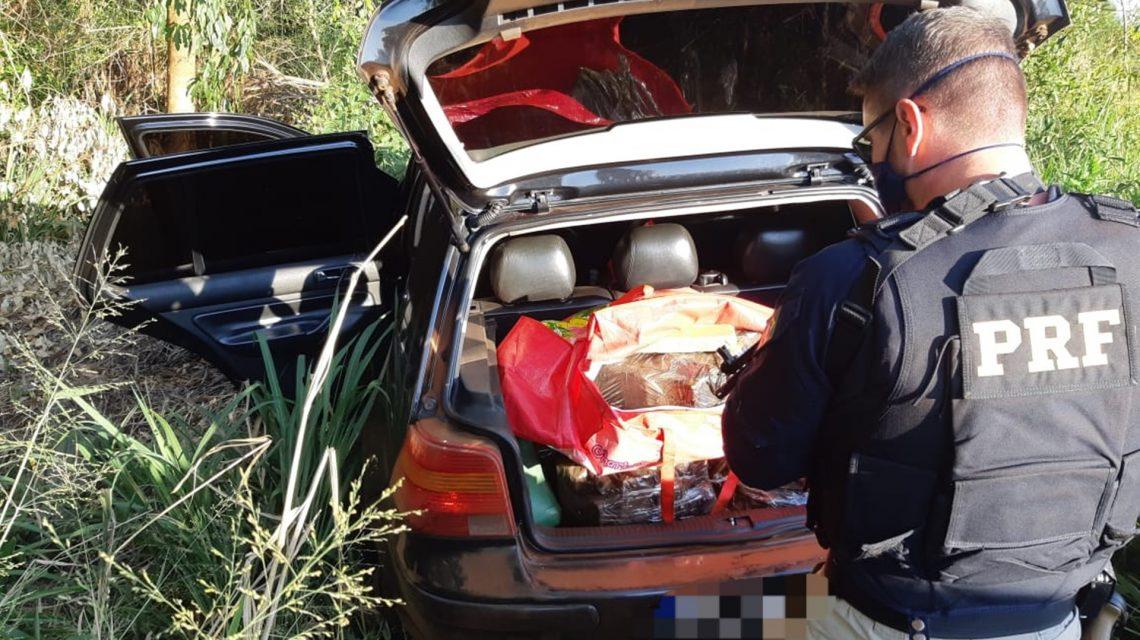 PRF apreende carro carregado com maconha em Realeza