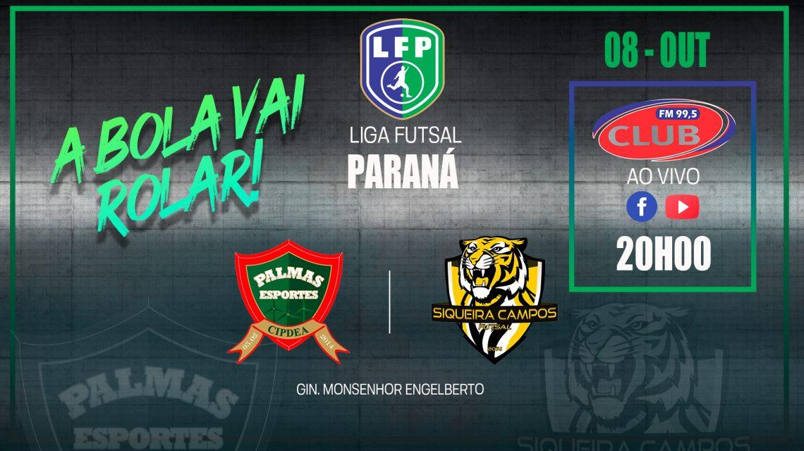 PalmasNet e Siqueira Campos voltam a se enfrentar, desta vez pela Liga Paraná