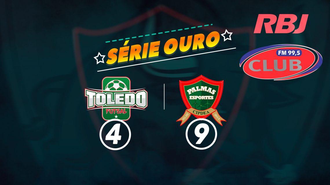 PalmasNet goleia o Toledo pela Série Ouro