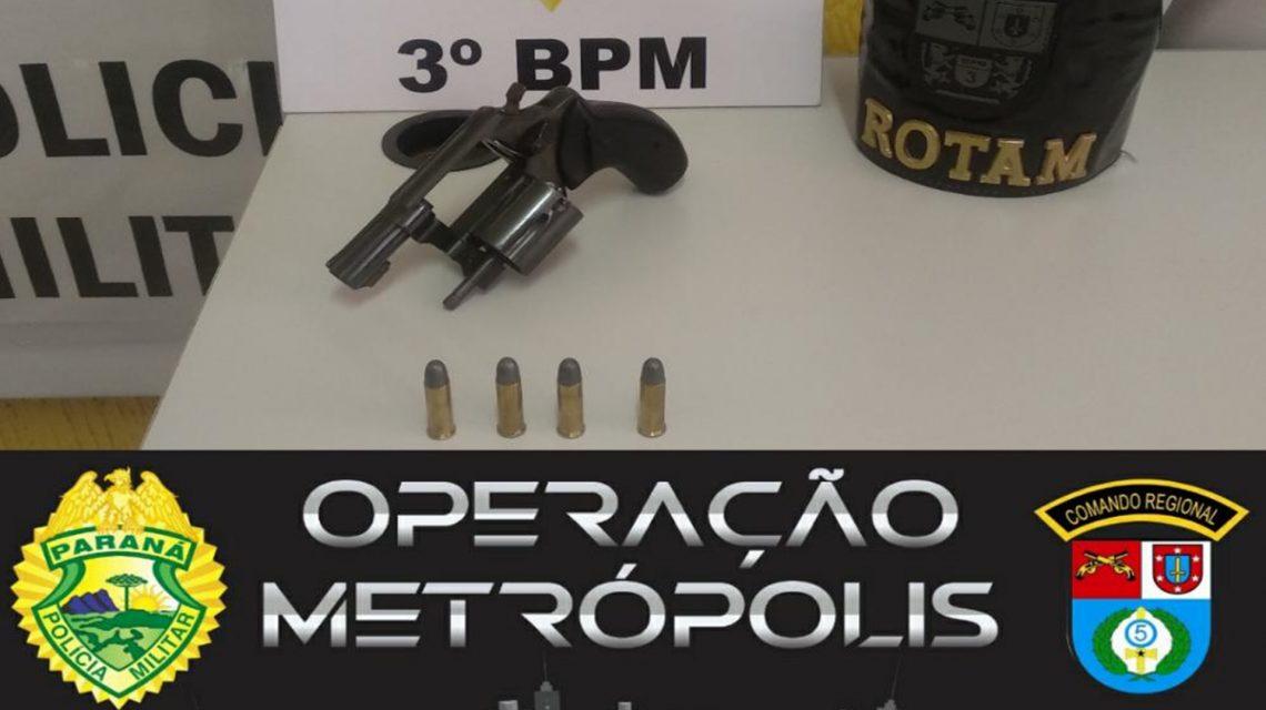 Operação Metrópolis: Arma de fogo é apreendida em São Jorge D'Oeste