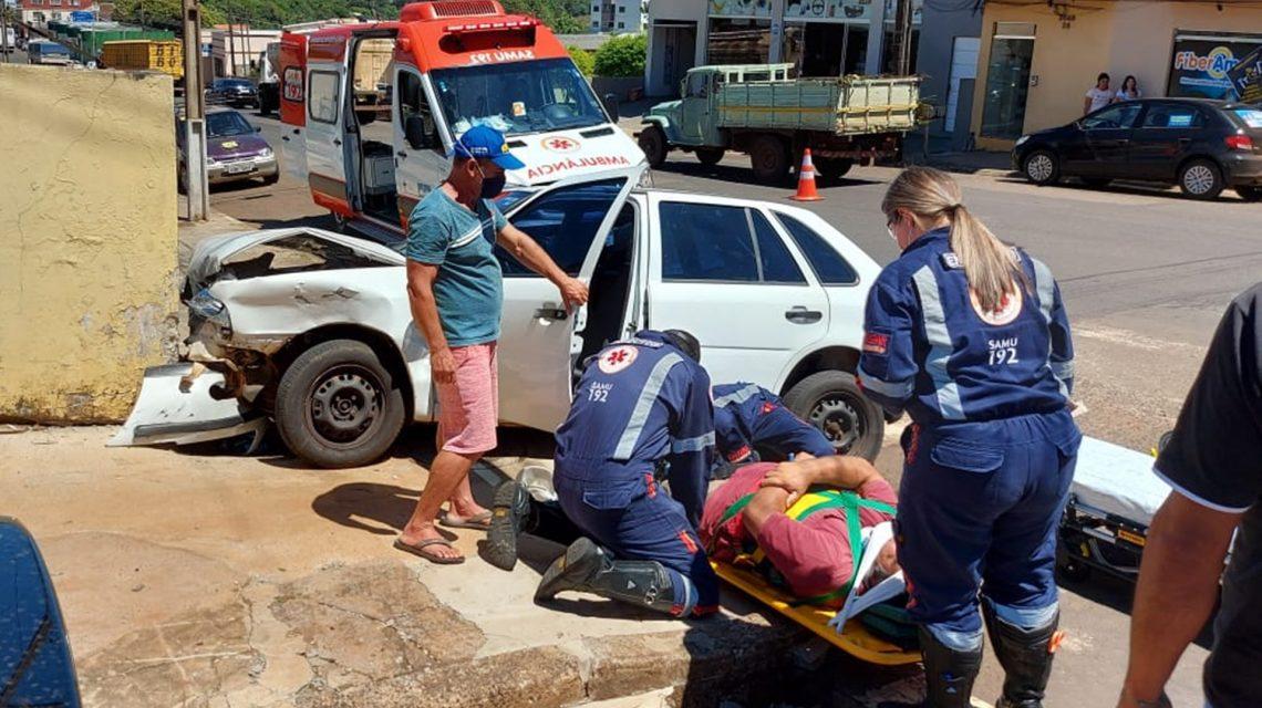 Pai e filha ficam feridos em acidente no perímetro urbano de Chopinzinho