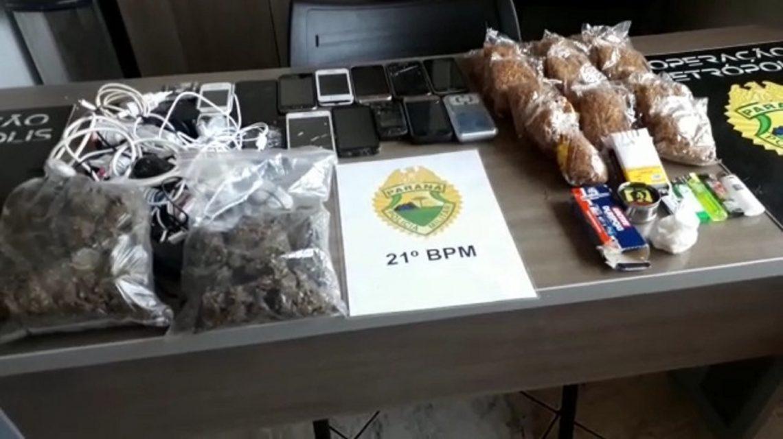 Polícia Militar faz apreensão de drogas e celulares na PEFB