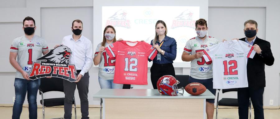 Time de futebol americano de Francisco Beltrão firma parceria com a Cresol