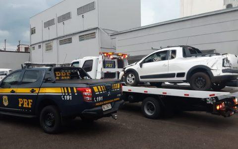Carro roubado é recuperado pela PRF na região de Chopinzinho