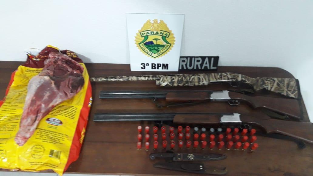 Armas, carne de caça, drogas e sete pessoas detidas em Palmas pela PM durante fim de semana