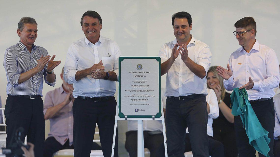 Presidente Bolsonaro participa de inauguração de PCH em Renascença
