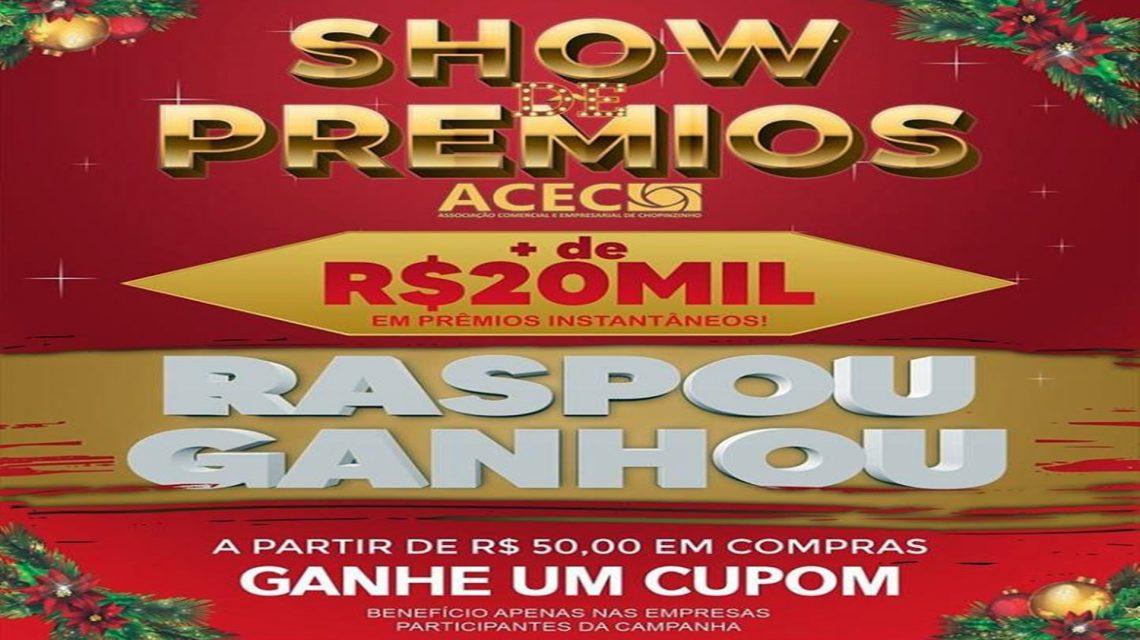 Promoção Show de Prêmios da ACEC tem início nesta terça-feira