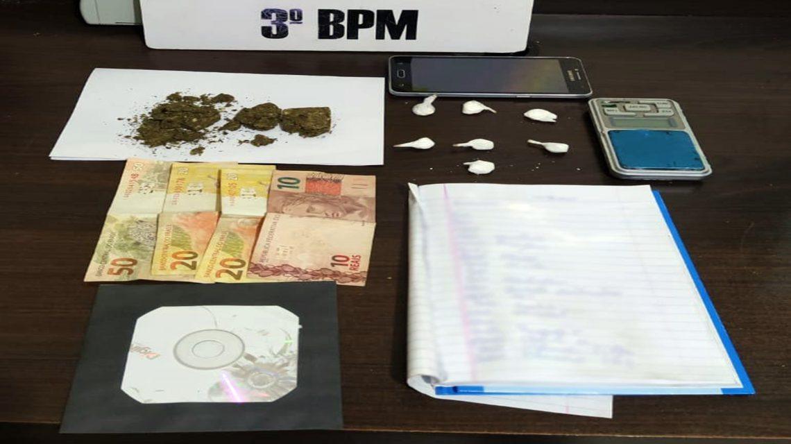 Polícia Militar apreende cocaína e maconha após abordagem em Pato Branco