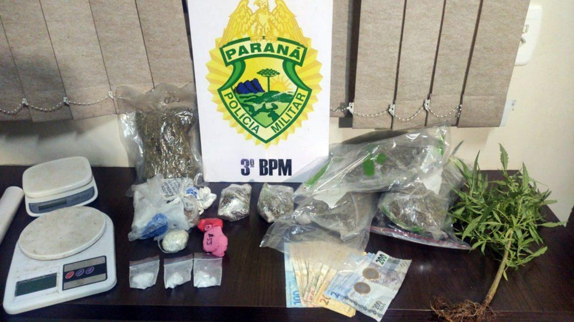 Três pessoas são presas por tráfico de drogas em Pato Branco